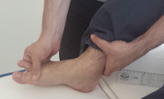 Su fisioterapeuta le ayudará a realizar movimientos en los tobillos y piernas.