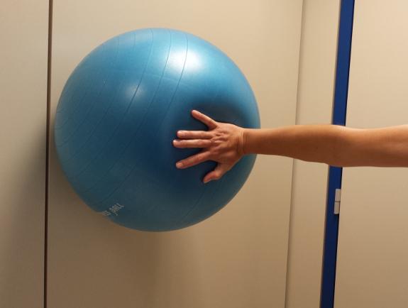 Los ejercicios con balones refuerzan los músculos de la mano, brazo y hombro.