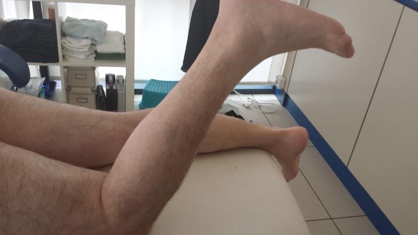 Ejercicios de tronco y cadera con enfermos de esclerosis