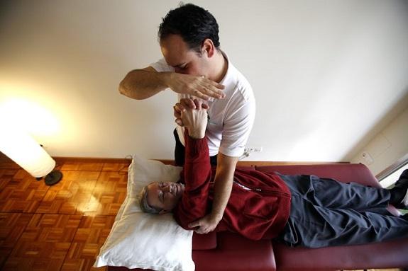 Ejercicios con enfermos de esclerosis múltiple